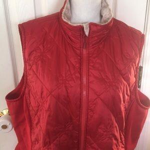 LL Bean | women's plus size vest faux fur size 3X
